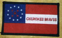Cherokee Braves Flag Patch