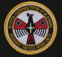 Echota Cherokee Tribal Logo Patch