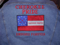 Cherokee Pride Endures Forever Denim Jacket